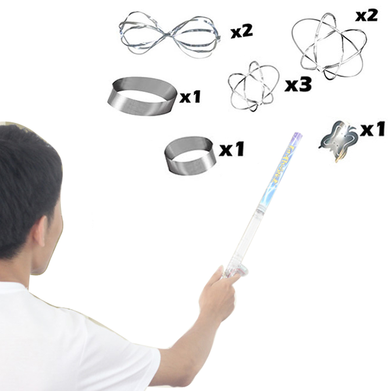 Updated flying up Fun Fly Stick Science kit toys Static flying wand with 10pc deluxe set