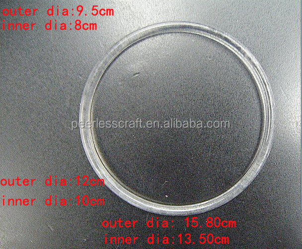 High Quality 9.5cm Diameter Simple Round Transparent Ring DIY Manual Plastic Dream Catcher Hoop