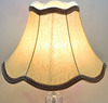 Traditional Handmade Fabric lining white Bell Shape Bronze Flower Lampshade