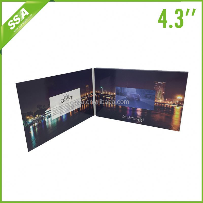 2016 hot product 4.3 inch video catalog/ all colors/digital print