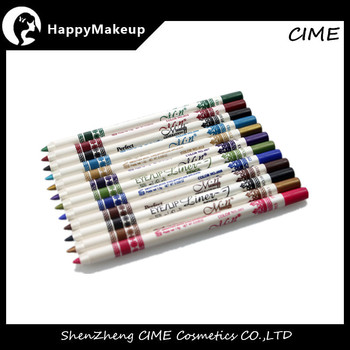new 12pcs colors glitter eye/lips liner pen make-up eyeliner pencil makeup sets