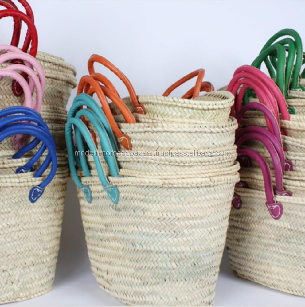 Rieten Tas Groothandel : Gekleurde handgrepen marokkaanse handgemaakte souk stro