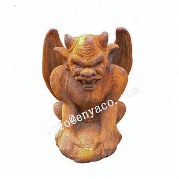 Garden Gargoyle Statue , Decorative Monster Sculpture