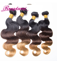 Three Color Ombre Remy Brazilian Hair Weave 1B 33 27 Color Body Wave Human Hair
