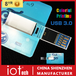 Bulk Cheap Credit Card USB 3.0 Flash Drive 8GB Free Sample Worldwide