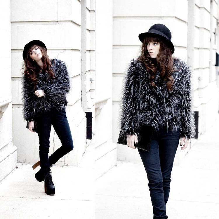 The new version of cool autumn and font b winter b font light street fashion faux