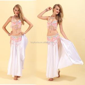 16a8aaaaf Yellow Belly Dance Dance Costumes Bra Skirt
