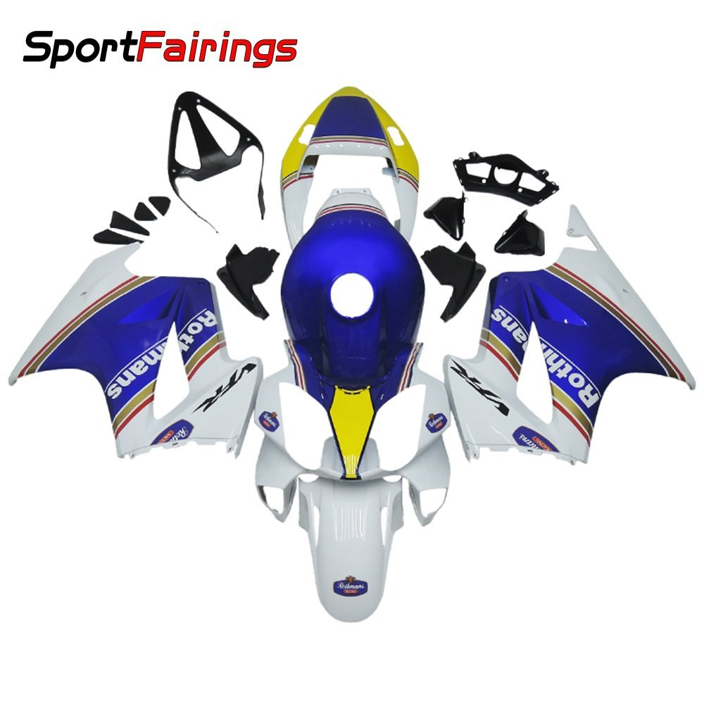 Sportfairings Injection Fairing Kits For Honda VFR800 RC46 02 03 04 05 06 07 08 09 10 11 12 Fairings White Blue