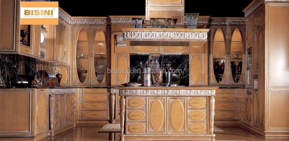 Stile Vittoriano Mobili Da Cucina Set,Di Lusso Intagliato A Mano ...