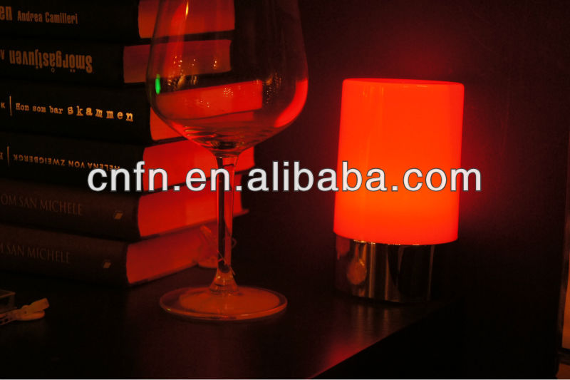 New Restaurant table candle lamps,led table lamp for home,colorful rechargeable led table lamps