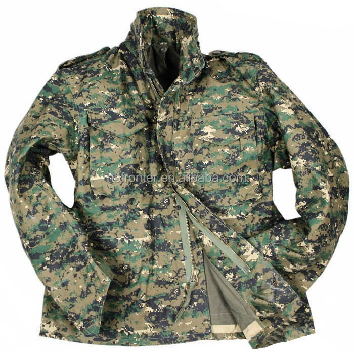 f04b4c9bb85c7 Digital Woodland Camo Military Field Coat M65 Army Jacket - Buy M65 ...