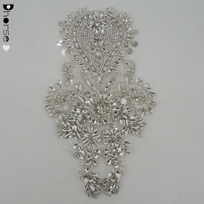 Handmade Clothes Decoration Clear Crystal Rhinestone Appliques