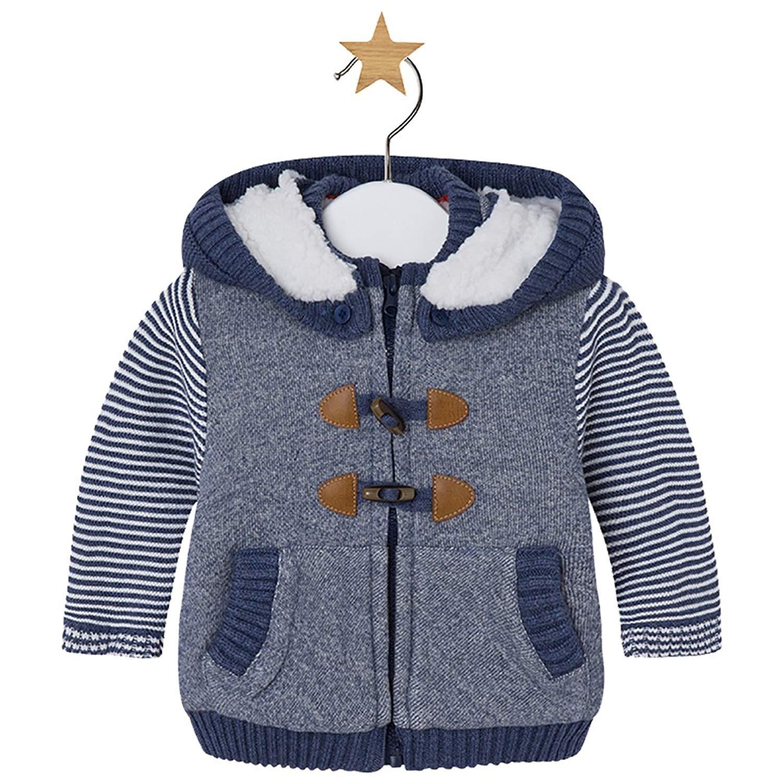 YUFAN Toddler Little Boys Winter Fleece Lined Coat Sherpa Lined Hoodie Toggle Jacket