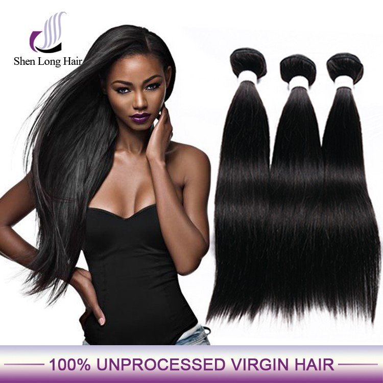 brazilian virgin remy human hair weft, natural color silk straight from 8inch to 30inch human hair weave extension