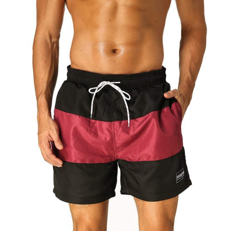 Plus Size Summer Beach Board Short Pants Quick-Drying Leisure Briefs Men's Swim Trunk Boxer Surf Wear