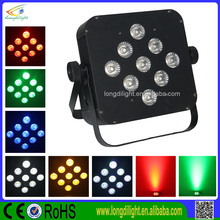 9*3w rgb 3in1 lae flat par can lighting battery powered led par light