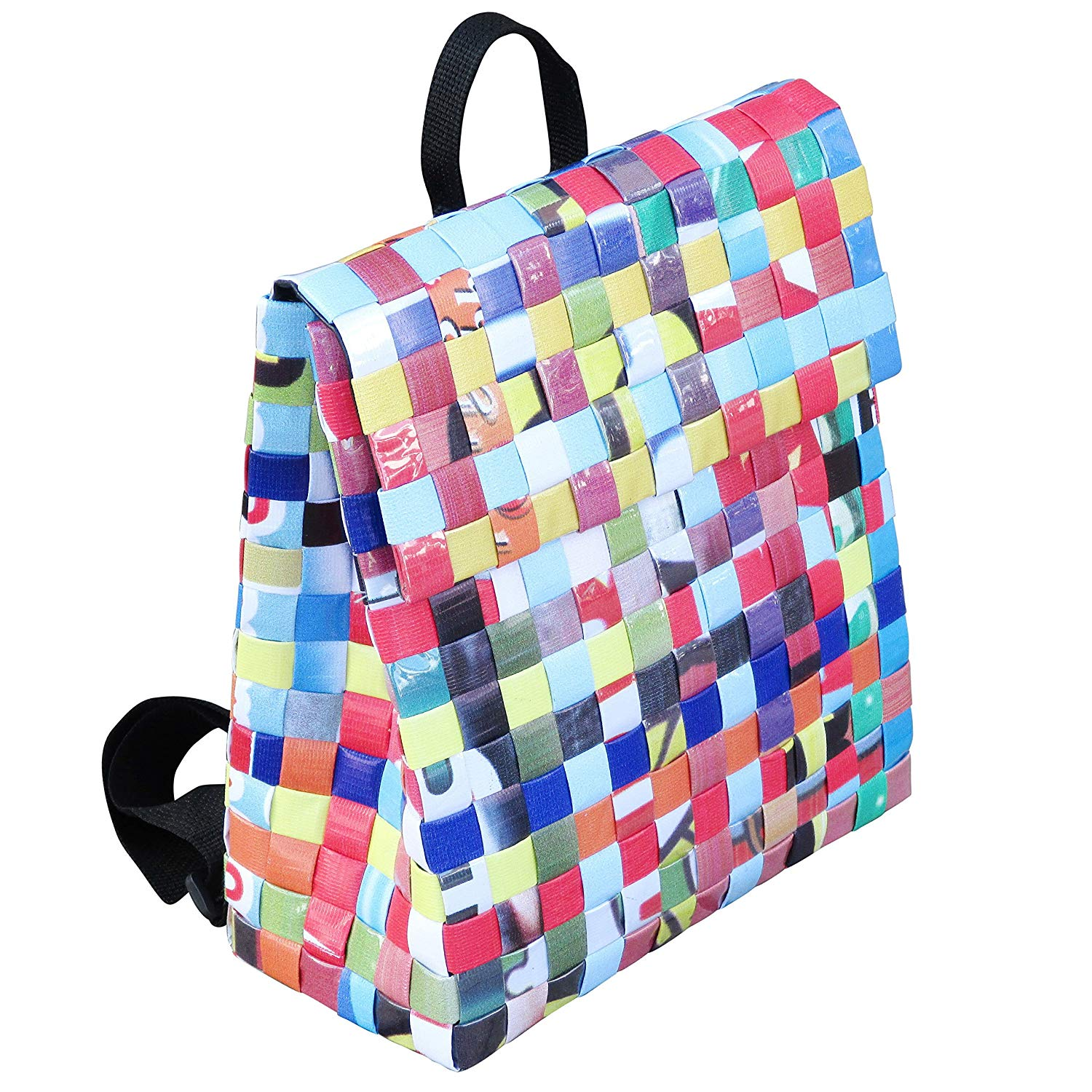 Get Quotations · Backpack made from banner ads - FREE SHIPPING reclaimed  eco friendly designs style backpacks handbag upcycled c6b1ca5fbe