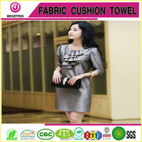 Wujiang Polyester Spandex Stretch Satin Fabric Curtain Fashion Dress Fabric