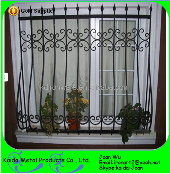 House Wrought Iron Window Grills Design