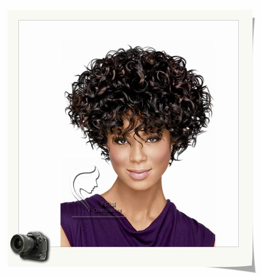 Short kinky hair wigs for black women