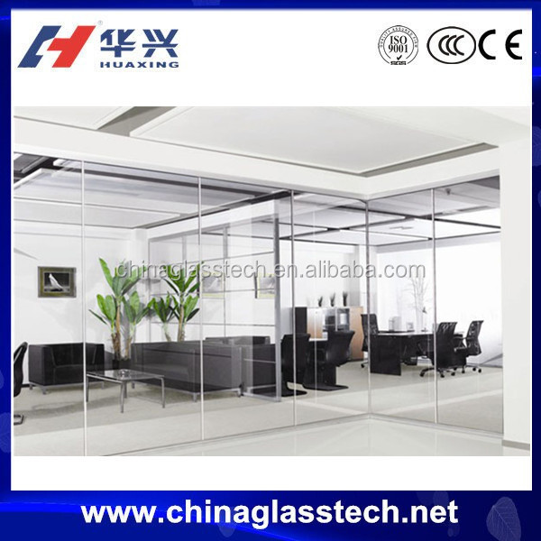 Ce Standard Size Customized Tempered Glass Office Door With Window