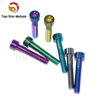 M6 X 35mm Full Thread Titanium Bolt Screw Allen Head For Headset Top Cap  Black Gold Rainbow Bicycle Bolts Dropshipping - Buy Full Thread Titanium