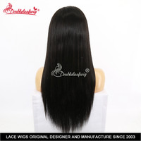 Peruvian Virgin human hair 360 Full Lace Human Hair Wigs Pre plucked 130 Density Silky Straight Human Hair Wigs