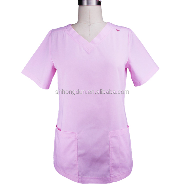 Customized Embroidery Logo Fashionable Nurse Uniform Design/ Medical Nurse  Scrubs