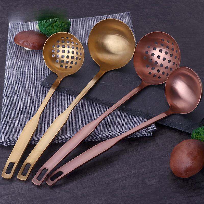 304 Stainless steel Soup Ladle Slotted Spoon and Cooking spoon