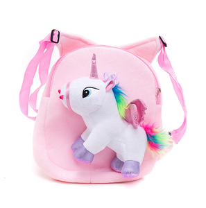 Little Kids Cute Unicorn Toy Attached Kindergarten Child Outdoor Backpacks Soft Hand Touch