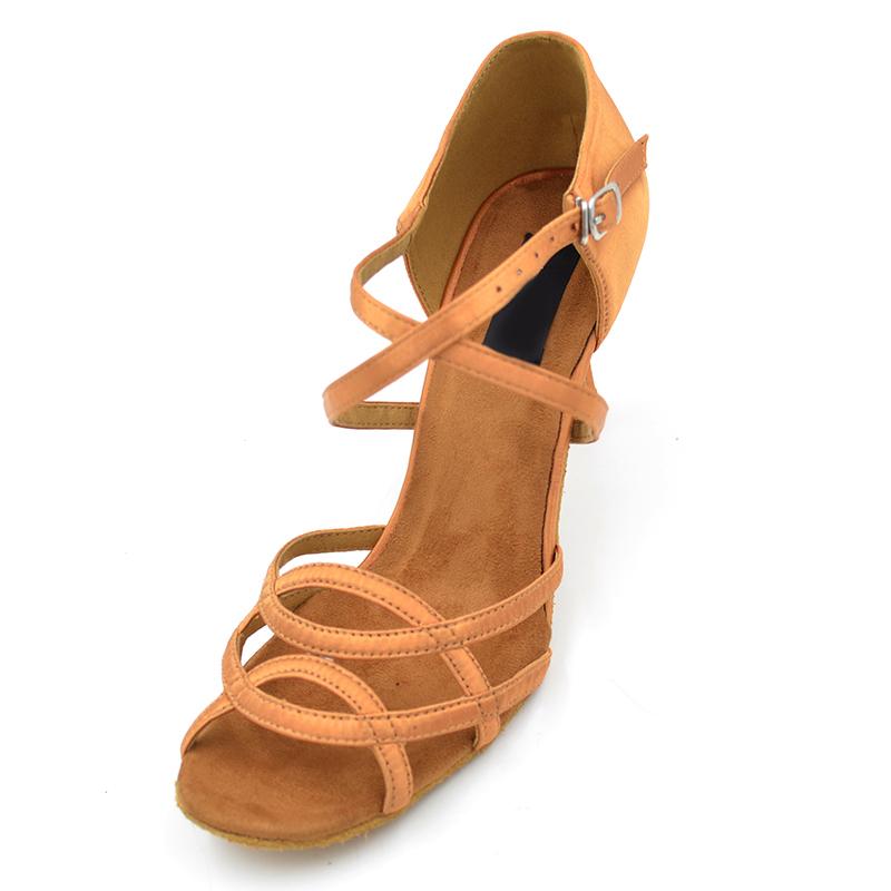 7d422e90f Baile de Salsa 2017 zapatos de cuero de moda de color popular tacón medio  gautiers zapatos