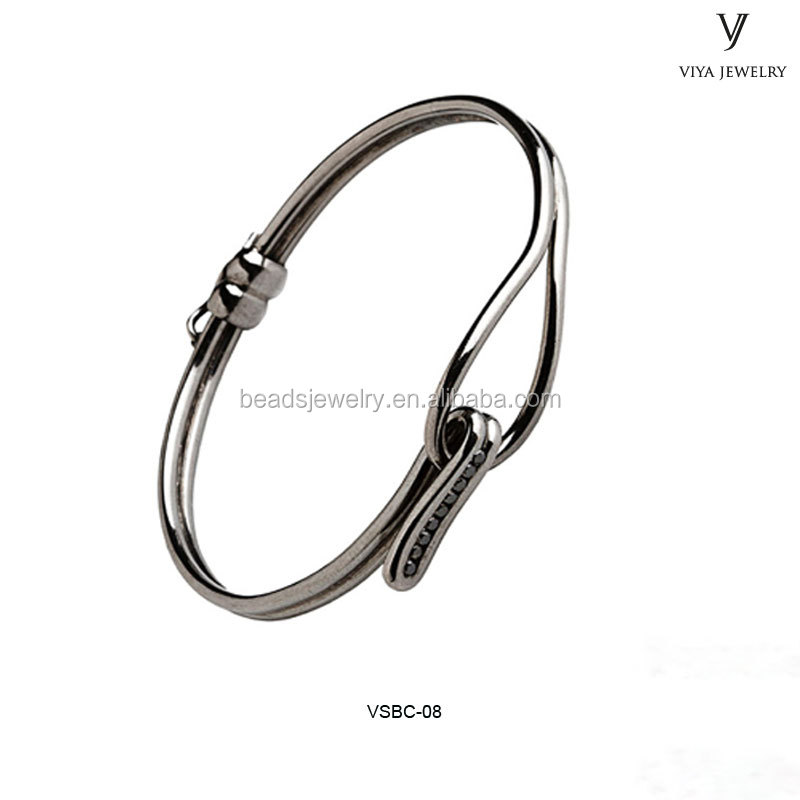 925 sterling silver inlaid zircon stone lady bangles adjustable wire bangle bracelet wholesale