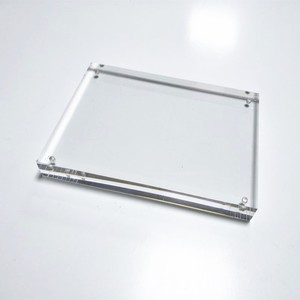 "5"" * 7"" Clear square rectangular acrylic fridge magnetic photo frame"