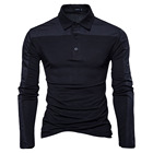 Slim Fit Splicing Designer Wholesale Autumn Casual Blank White Golf Tee Polo Shirt For Men