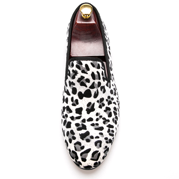 Shoes Fashion Men Slip on Leopard with vvZFw