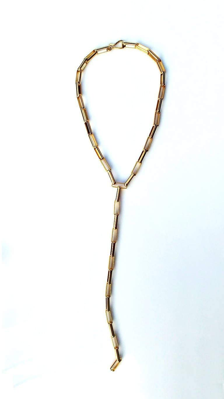 Chunky chain necklace, choker necklace, Y necklace, lariat necklace, statement necklace, gold choker, tie necklace