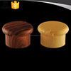 Wood grain cosmetic plastic flip top cap for lotion bottles
