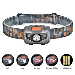 LED Headlamp Headlight Head Torch Super Bright 120 Lumens LED Head Lamp Flashlight 4 Modes Helmet Light for Running Camping