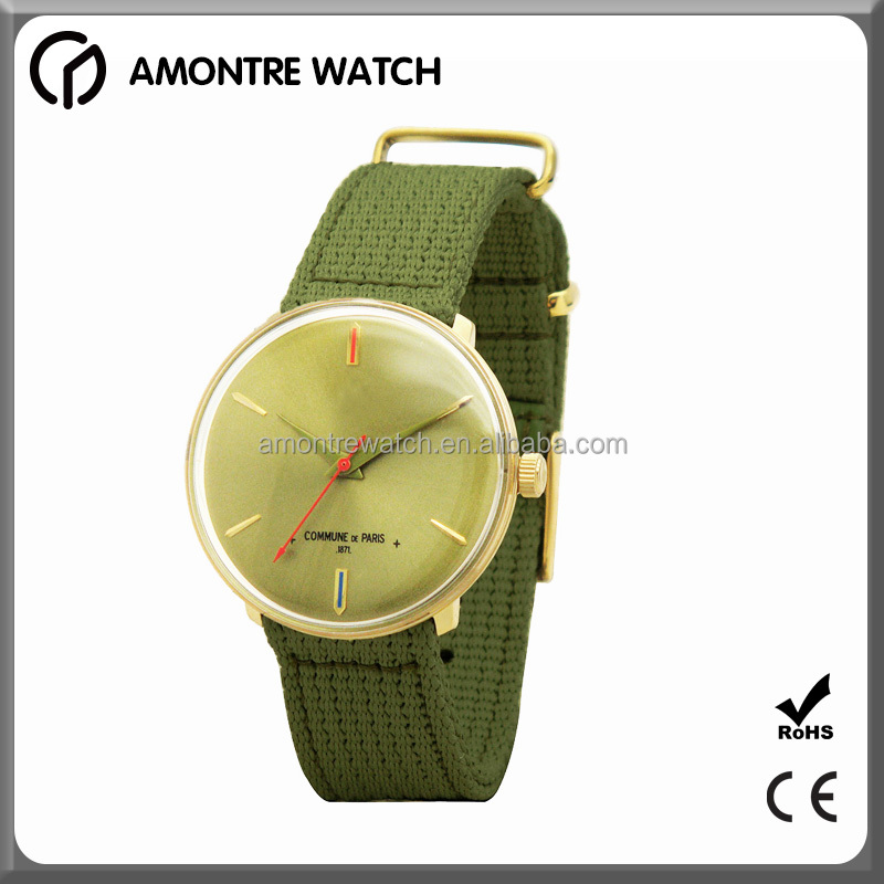 Colorful Nylon Strap Lady Hand details Watches with Stainless steel case