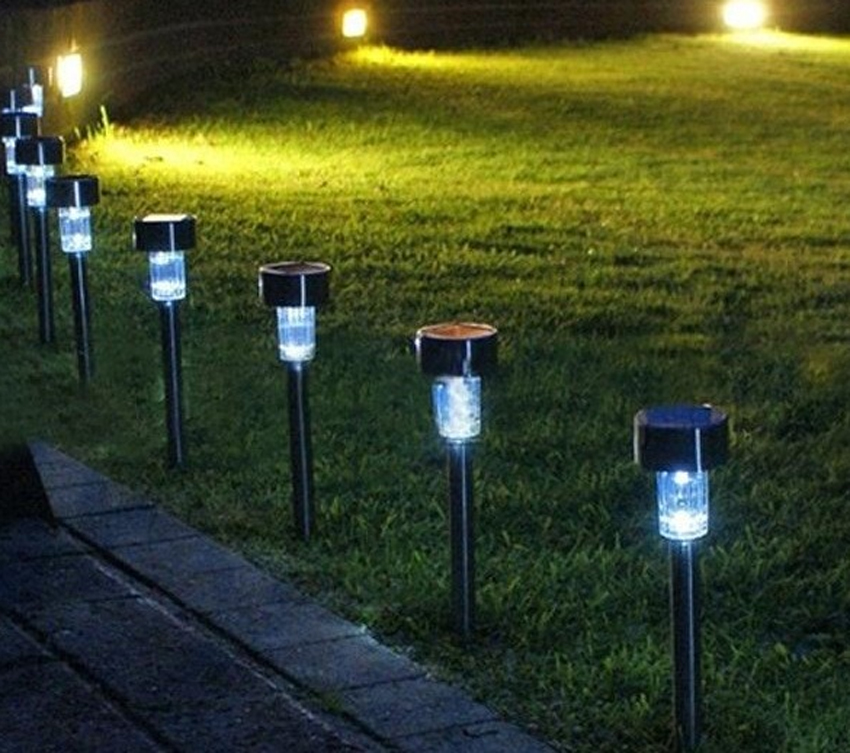 Outdoor Garden Solar Led Lawn Fence Light Lamp Post Deck Winter Best New Decorative Lights High