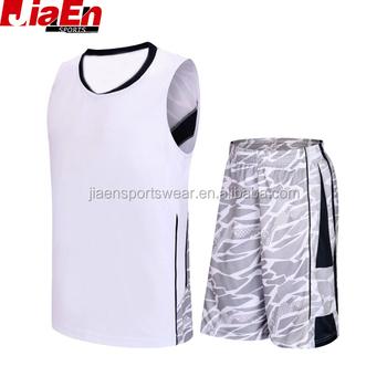 basketball uniforms reversible plain white basketball jersey with camo  basketball short 327a5f809b2f