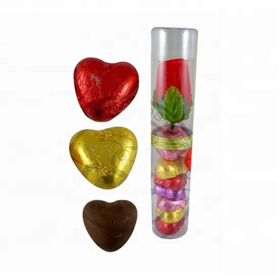Love Heart Shape Chocolates And Artificial Rose Saint Valentine's Day Wally Names Wholesale Chocolate