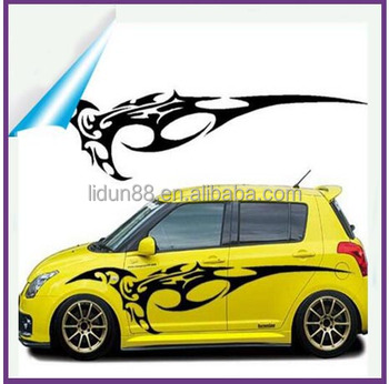 Waterproof 3d car body side sticker design custom order car sticker for car