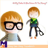 Superhero cute plush dolls for boys