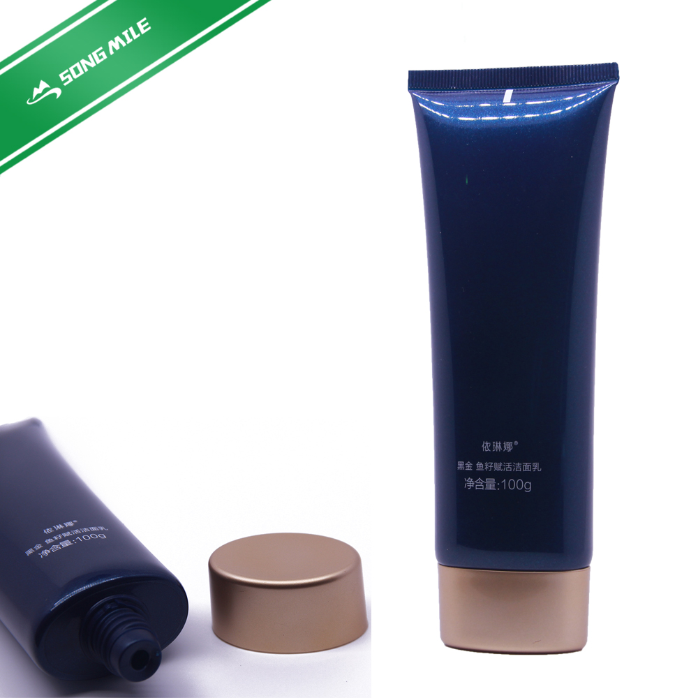 50ml plastic PE Oval Cosmetic Tube for Cosmetic Packing