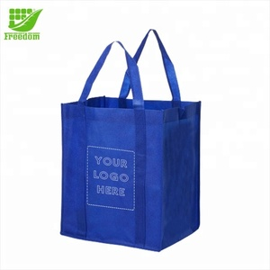 Medium sized non-woven Grocery Tote Bag with logo printing