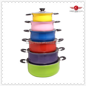 6 Pcs Colorful Stainless Steel Pot Stainless Steel Prestige Cookware Set Wholesale
