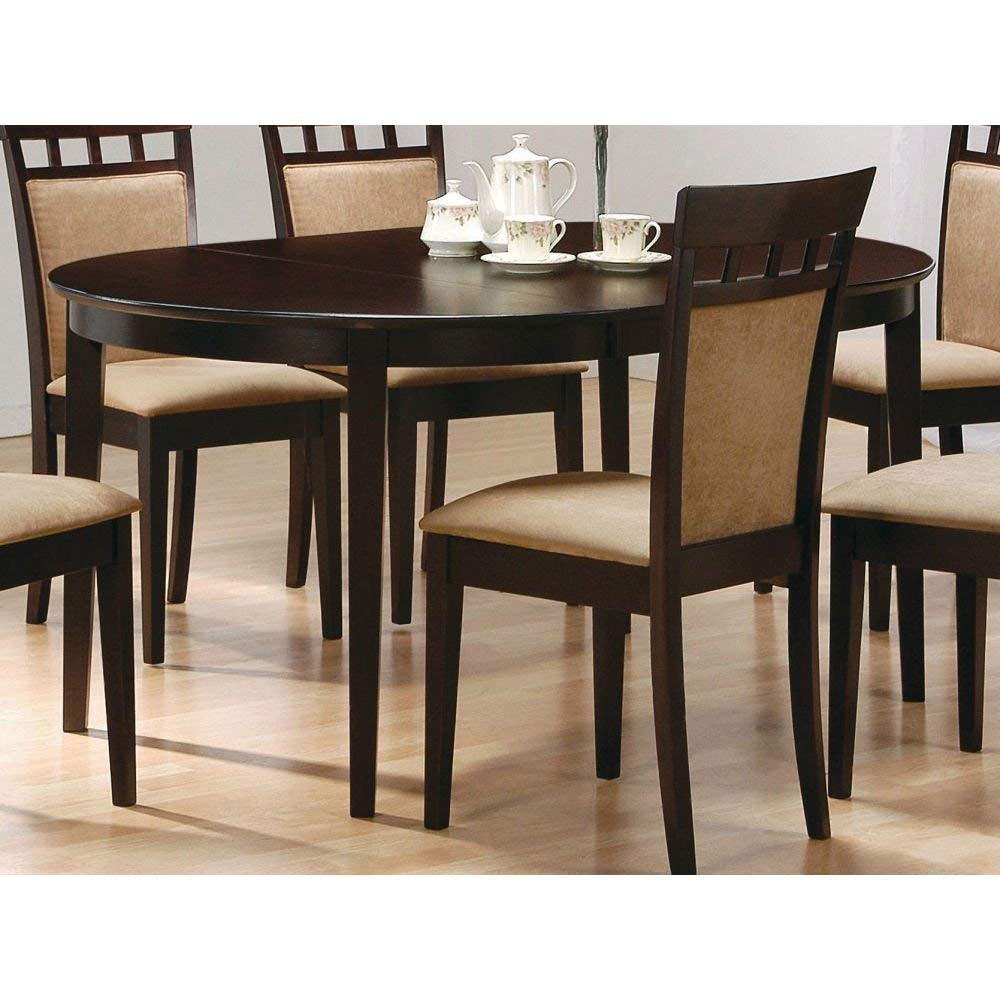 BeUniqueToday Contemporary Oval Dining Table in Dark Brown Cappuccino Wood Finish, This Contemporary Oval Dining Table in Dark Brown Cappuccino Wood Finish Would Be A Great Addition to Your Home