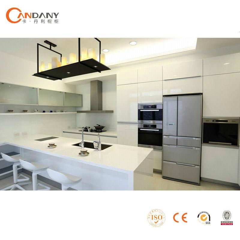 Moderne witte hoogglans lak keukenkast te koop, keuken muur ...