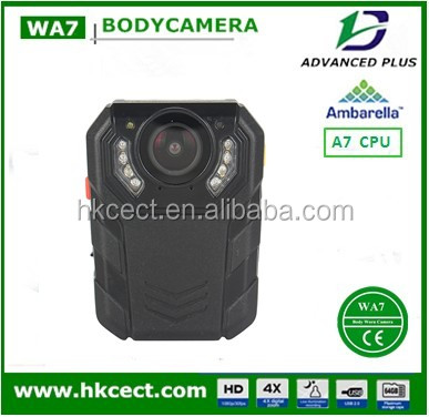 Wide Angle External Camera A7 HD 1296P pocket dvr for police